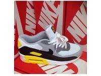 Nike Air Max 90's Running Shoes White, Black & Yell
