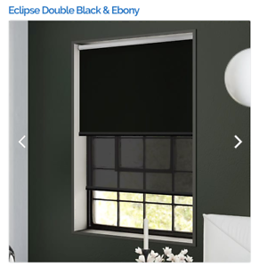 Eclipse Double Black and Ebony double roller blind