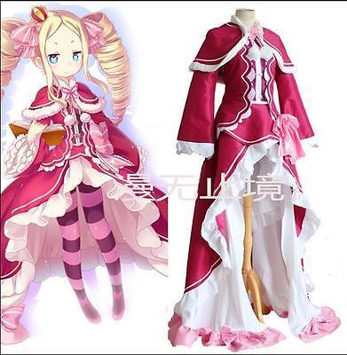 Hot Damen girls Cosplay Kostüm Lolita Anime RE Life zero Beatrice kinderkostüm ()