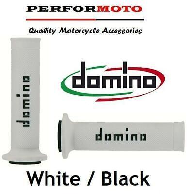 DOMINO RR GRIPS WHITE  BLACK TO FIT <em>YAMAHA</em> YZF1000 R1