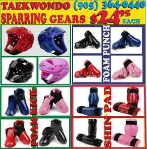 TAEKWONDO, KARATE SPARRING GEARS &UNIFORMS 60%OFF (905) 364-0440