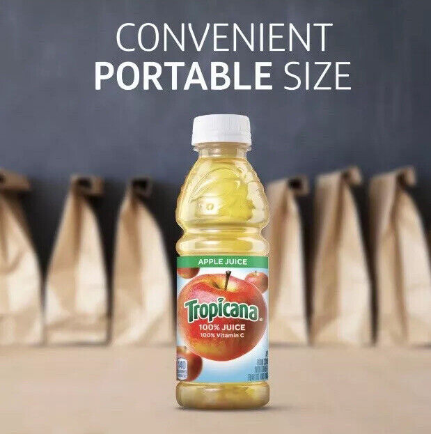 100% ORANGE🍊JUICE 10oz Bottle, 24/Carton
