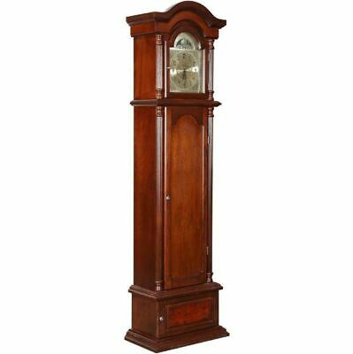 Hidden Firearm Storage Cabinet Lockable Grandfather Clock Rifle Safe Gun Rack
