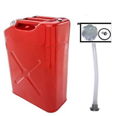 Gas Jerry Can 5 Gal. Spout Portable Metal Steel Emergency Fuel Backup Tank Motor