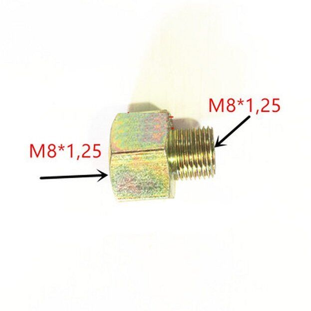 Hydraulic Metric Fitting M8 M8X1.25 Male to Female Adapter  JS