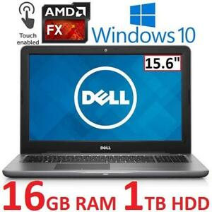 "REFURB DELL INSPIRON 5565 LAPTOP PC I5565-5850GRY 180974094 15.6"" TOUCHSCREEN FX-9800P 16GB RAM 1TB HDD WIN 10 REFURB..."