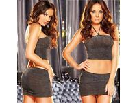 Sexy 3 piece Club/Dance Outfit Set. Brand new in packaging.