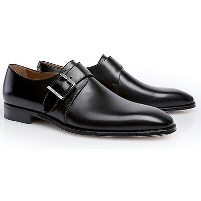 Stemar Men's Lucca Monk Strap Shoes Black - Size 8.5 *New In Box*