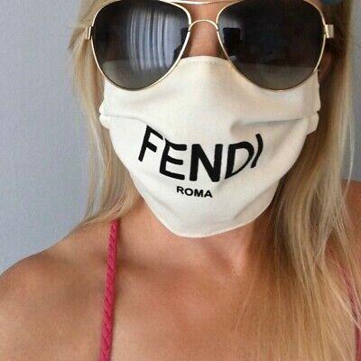 New Fendi Bag Made Into Face Mask Machine Washable Adult Medium