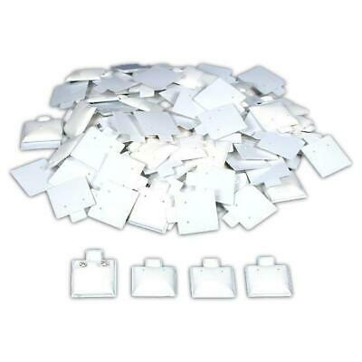 100 White Puff Pad Earring Cards Jewelry Display 1 X 1