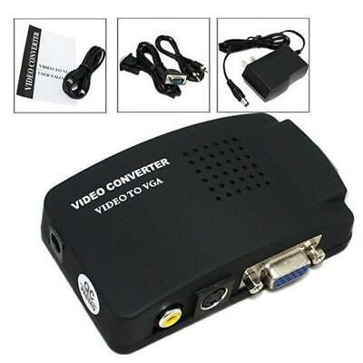 ABLEGRID RCA Composite AV S-Video to VGA Converter Box for D