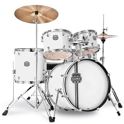MAPEX Voyager 5 Piece Drum Set w. Cymbals, Cymbal Stand, Sticks, Shirt & Heads on Rummage
