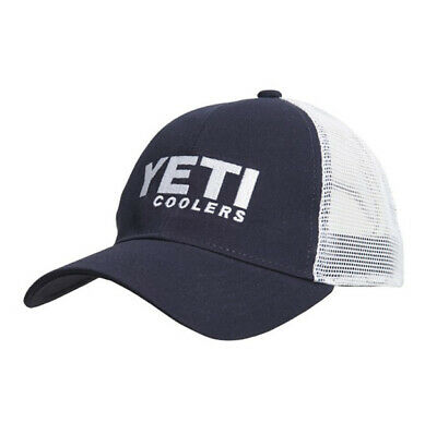 Yeti Coolers Trucker Hat Navy Blue One Size Snapback Adjustable