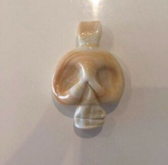 Skull Glass Pendant