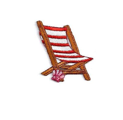 Kids Embroidered Chair (Beach Lounger - Chair - Summer - Vacation - Seashell - Embroidered Iron On)