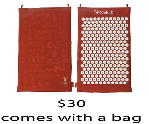 Spoonk Space Acupuncture Mat in Red