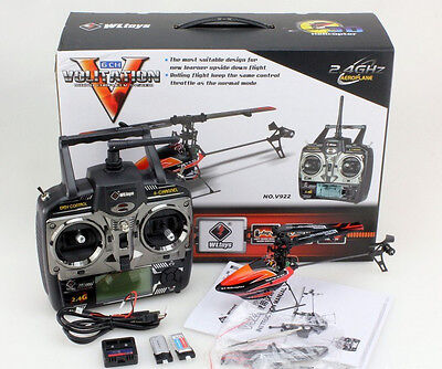 WLToys V922 3D 6CH Flybarless RC Helicopter RTF 6-Channel 3-Axis Gyro on Rummage