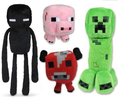 Minecraft Plush Toys (4Pcs-Creeper , Enderman ,Cow & Pig)](Minecraft Creeper Toy)
