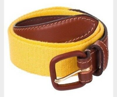 American Apparel Sunshine Solid Web Belt Brown Leather Buckle XS (25-27)