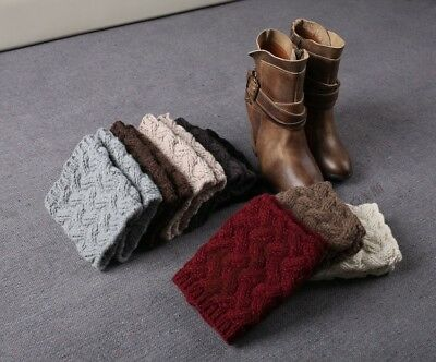 Winter Warm Stulpen Damen Stulpen Gestrickt Socken Weihnachten Häkeln Leggings