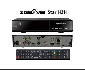 Zgemma h2h cable and sat plug and play