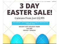 EASTER DEALS / CHEAP HOLIDAY HOMES /MEMORIES /FAMILY REGENT BAY STATICS FOR SALE