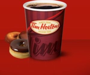 Carte tim hortons (100$) CARTE PHYSIQUE (PAS DE SCAN)
