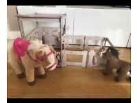 Baby born interactive horse, stable and pony