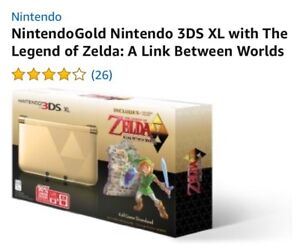 NintendoGold Nintendo 3DS XL with The Legend of Zelda