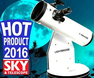 Meade Lightbridge 130Mm Dobsonian W Parabolic Mirror Free Star Planet Locator
