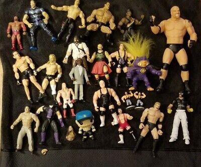 Wrestling Action Figure Lot #5 WWF WCW WWE ECW jakks hasbro mattel toy bundle