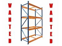 WAREHOUSE PALLET RACKING SHELVING WANTED