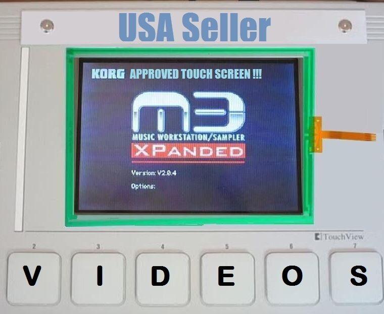 Korg M3 Touch Screen Touch Panel Repair Kit - Original Manufacturer - Warranty!
