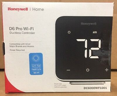 Honeywell D6 Wi-fi Ductless Controllerthermostat Dc6000wf1001