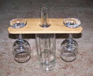 Wine Bottle and Glasses Display