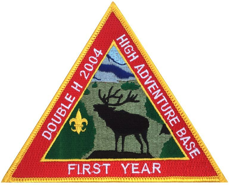 Boy Scout 2004 Philmont Double H First Year Patch Badge BSA Merit High Adventure