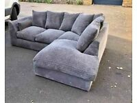 STYLISH NEW DYLAN JUMBO CORD CORNER AND 3+2 COUCH AVAILABLE IN STOCK.BOOK YOUR ORDER