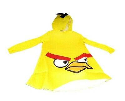 Kids Angry Birds Yellow Bird Toddler Costume with Hood 2T Halloween - Angry Bird Toddler Costume