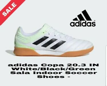 ADIDAS FOOTBALL BOOTS TRAINERS MENS Copa 20.3 IN Sala White/Black/Green RRP £59