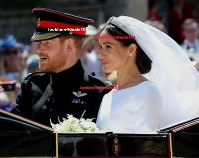 Royal Wedding Photo 8X10 Prince Harry Meghan Markle Carriage London England
