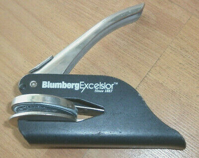 Blumberg Excelsior Pocket Seal Corporate Seal Notary Embosser - See Notes