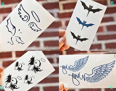 Appolodine Angel Evil Devil Body Sticker Temporary Tattoo Sticker Lady - Angel Devil Tattoo