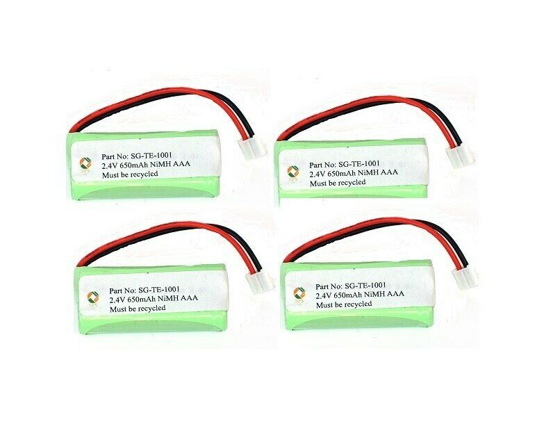 SPS Brand 2.4V 650 mAh Replacement Battery for Rayovac TEL10213 (4 Pack)