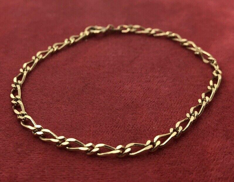 "Vintage Sterling Silver Bracelet 925 Danecraft Primaver Gold Tone Chain 7"""