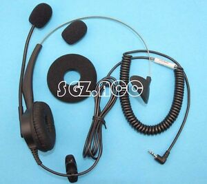 Headset with 2.5mm jack for Panasonic KX-TG AT&T 992 Polycom 321 Cisco Linksys