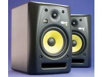 Pair KRK Rokit 6 c/w audio leads