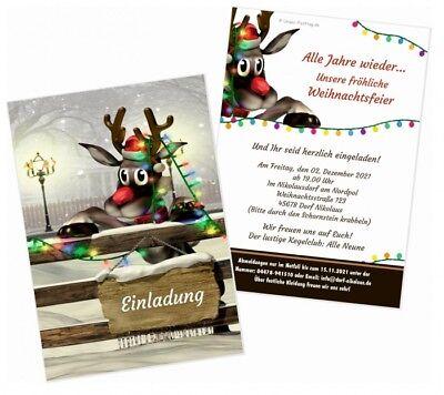 adung Karte mit IHREM Wunschtext, Nikolausfeier lustig schön (Weihnachtsfeier Einladung)