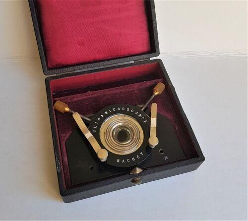 """Rare Nachet """"Ultramicroscopie"""" Or Dark-Field Stage for microscope, Circa 1910"""