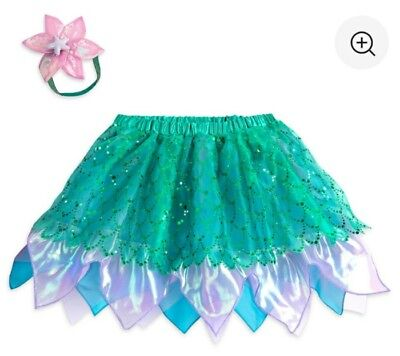 NWT Disney Ariel The Little Mermaid Tutu Skirt Set Headband Tweens Girls 13/14 - The Little Mermaid Tutu