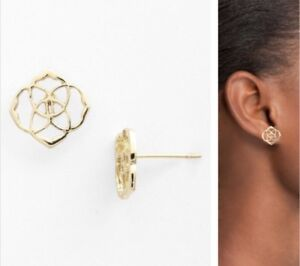 KENDRA SCOTT GOLD STUD EARRINGS-NEW!